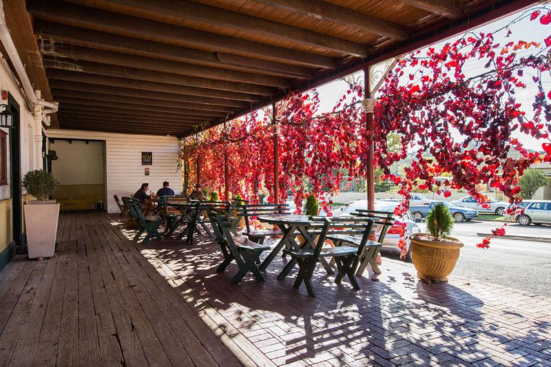 The Peel Inn Hotel outdoor seating